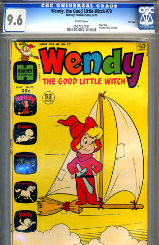 Wendy, the Good Little Witch #73   CGC graded 9.6 - HG - Giant Size SOLD!
