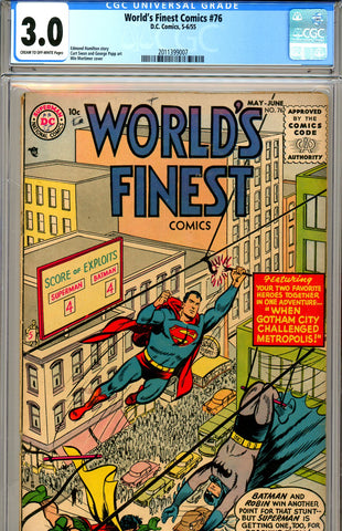World's Finest #076 CGC graded 3.0 SCARCE! SOLD!