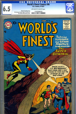 World's Finest #090   CGC graded 6.5 - SOLD