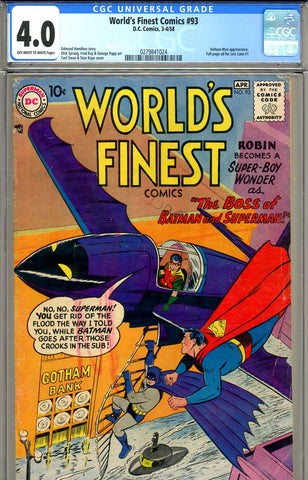 World's Finest  #093  CGC graded 4.0