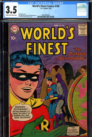 World's Finest #100 CGC graded 3.5 Anniversary Issue - SOLD!