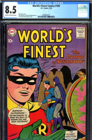 World's Finest Comics #100 CGC graded 8.5 Anniversary Issue