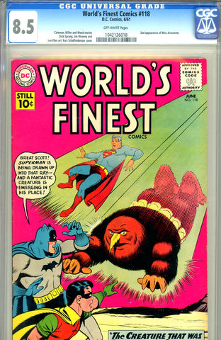 World's Finest #118 CGC graded 8.5 second Miss Arrowette SOLD!