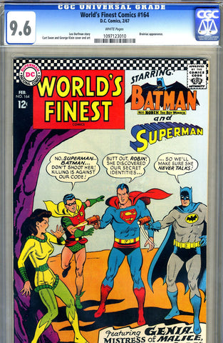 World's Finest #164   CGC graded 9.6 - SOLD