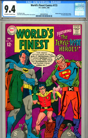 World's Finest #173 CGC graded 9.4 first Two-Face in S.A. (disguise)