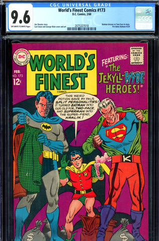 World's Finest #173 CGC graded 9.6 - first S.A. Two-Face