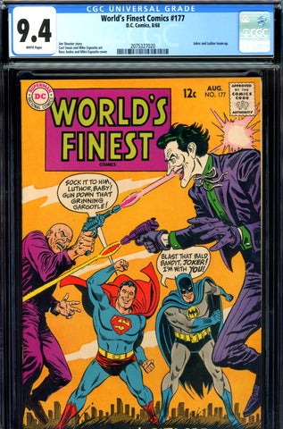 World's Finest #177 CGC graded 9.4  Joker and Luthor team-up SOLD!