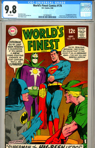 World's Finest #178 CGC graded 9.8  HIGHEST GRADED