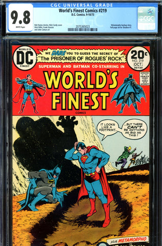 World's Finest #219 CGC graded 9.8  HIGHEST GRADED