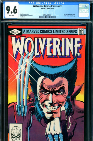 Wolverine Limited Series #1 CGC graded 9.6 - first solo SOLD!