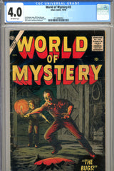 World of Mystery #3 CGC graded 4.0 scarce - top 4 graded (1956)