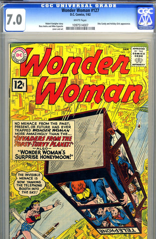 Wonder Woman #127   CGC graded 7.0 - white pages - SOLD!