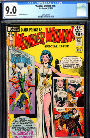 Wonder Woman #197 CGC graded 9.0 - Special Issue