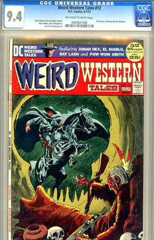 Weird Western Tales #12 CGC graded 9.4 first issue