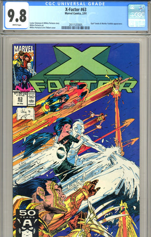 X Factor #63 CGC graded 9.8 HIGHEST GRADED