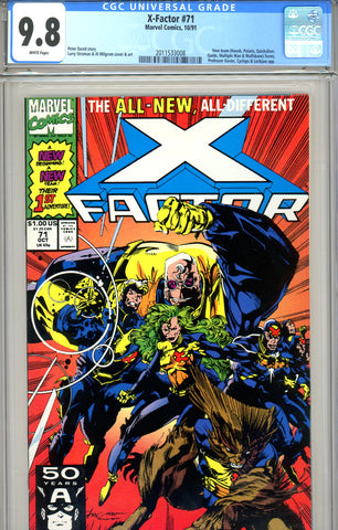 X Factor #71 CGC graded 9.8 new team HIGHEST GRADED  SOLD!