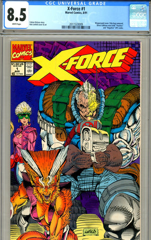 X-Force #1 CGC graded 8.5 - negative UPC code