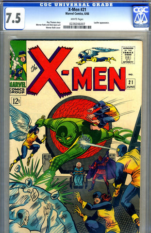 X-Men #21   CGC graded 7.5 - SOLD