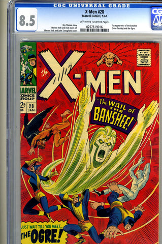 X-Men #028   CGC graded 8.5  first Banshee SOLD!
