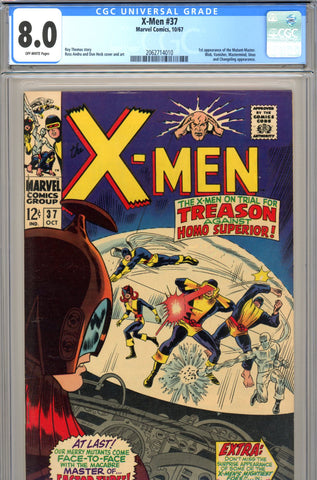 X-Men #037 CGC graded 8.0 - first Mutant Master SOLD!