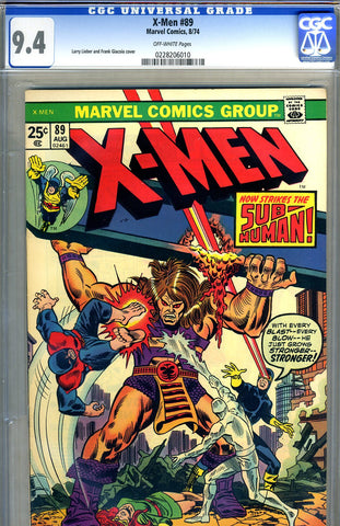 X-Men #089   CGC graded 9.4 SOLD!