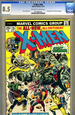 X-Men #096   CGC graded 8.5 - SOLD