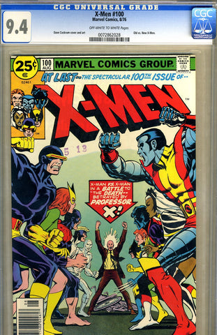 X-Men #100   CGC graded 9.4 - SOLD!