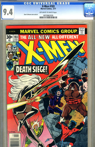 X-Men #103   CGC graded 9.4 - SOLD!
