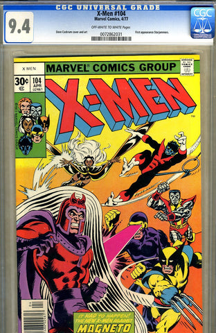 X-Men #104   CGC graded 9.4 - SOLD