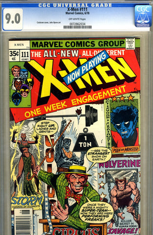 X-Men #111   CGC graded 9.0 - SOLD