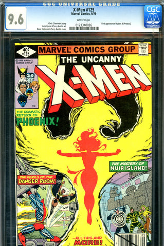 X-Men #125 CGC graded 9.6 - first Mutant X - SOLD!
