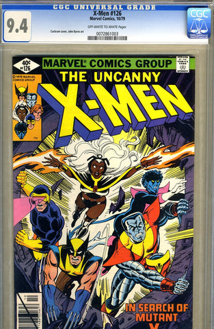 X-Men #126   CGC graded 9.4 - SOLD