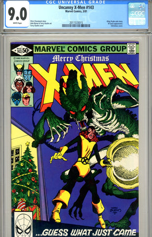 Uncanny X-Men #143 CGC graded 9.0 last Byrne issue