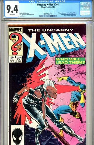Uncanny X-Men #201 CGC graded 9.4 first appearance of Cable - SOLD!