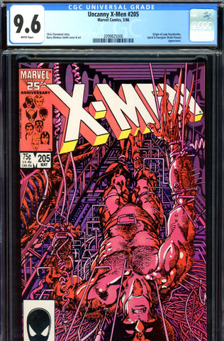 Uncanny X-Men #205 CGC graded 9.6 - Org Lady Deathstrike - SOLD!