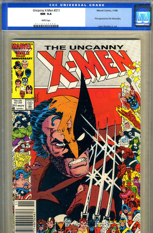 Uncanny X-Men #211   CGC graded 9.4 - white pages   - SOLD!