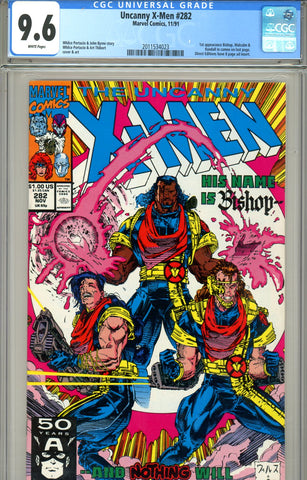 Uncanny X-Men #282 CGC graded 9.6 first Bishop - SOLD!