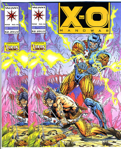 X-O Manowar #14  VERY FINE+ (two copies)