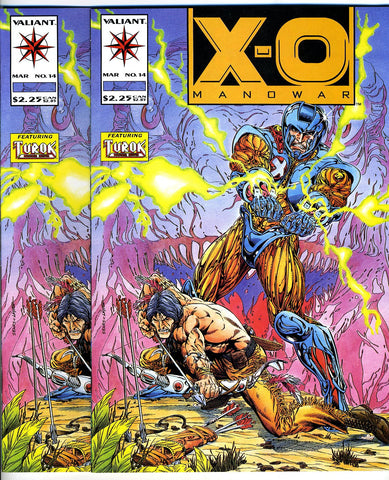 X-O Manowar #14   VF/NEAR MINT (two copies)