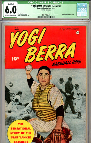 Yogi Berra, Baseball Hero #nn CGC graded 6.0 scarce 1951