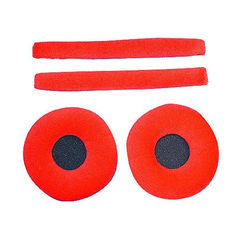 Zomo - Replacement earpads & headband pad set for Sennheiser HD25 headphones Cactus (Red velour)