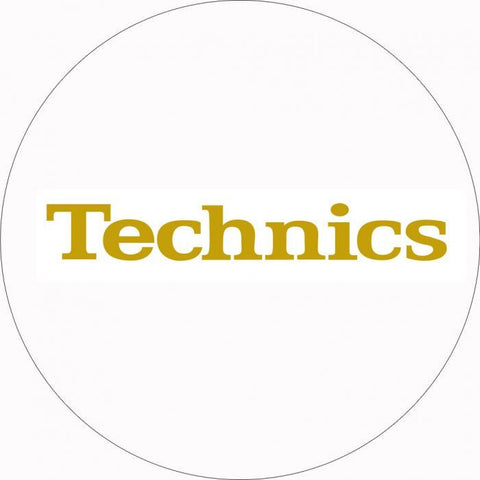 Technics White Gold Foil Slipmats (pair)