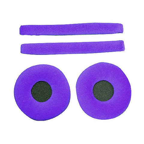 Zomo - Replacement earpads & headband pad set for Sennheiser HD25 headphones Violet (Purple velour)