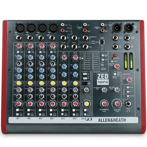 HIRE Allen & Heath Zed10FX Mixing Desk