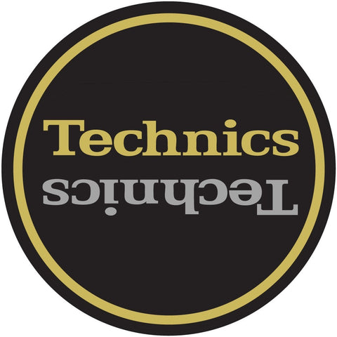 Technics Slipmats Black, Gold, Silver