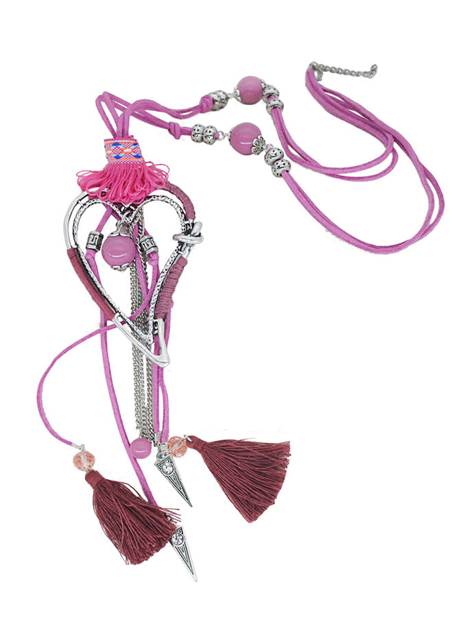 Heart-shaped tassel ornament