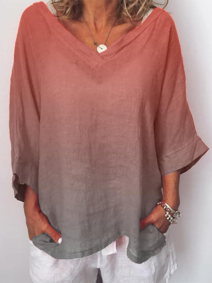 Casual 3/4 Sleeve Shirts & Tops