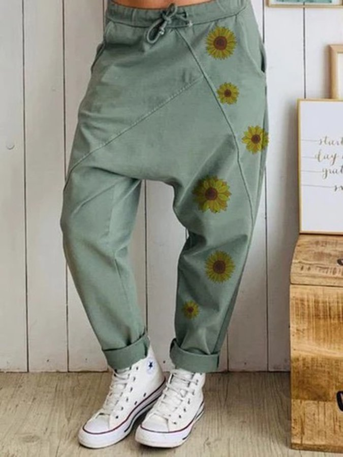 Floral Shift Pants