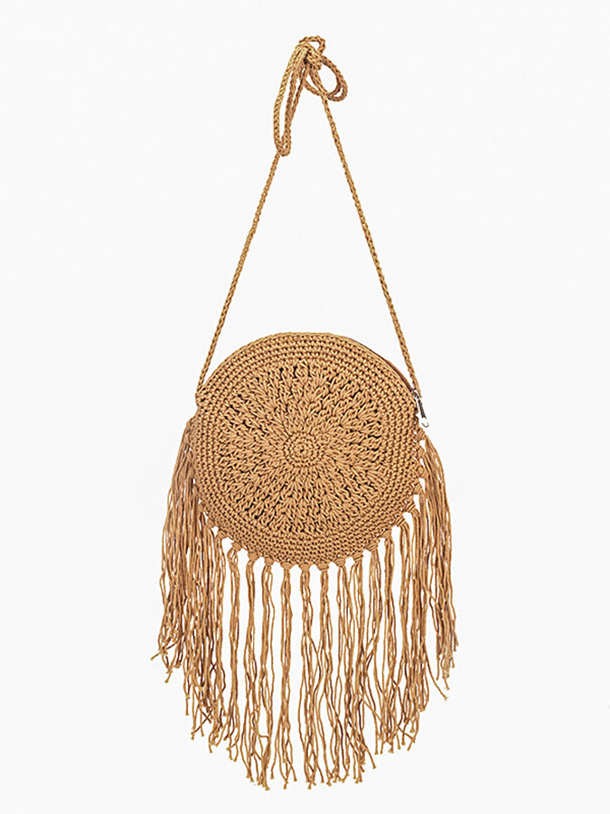 Vacation beach small round bag