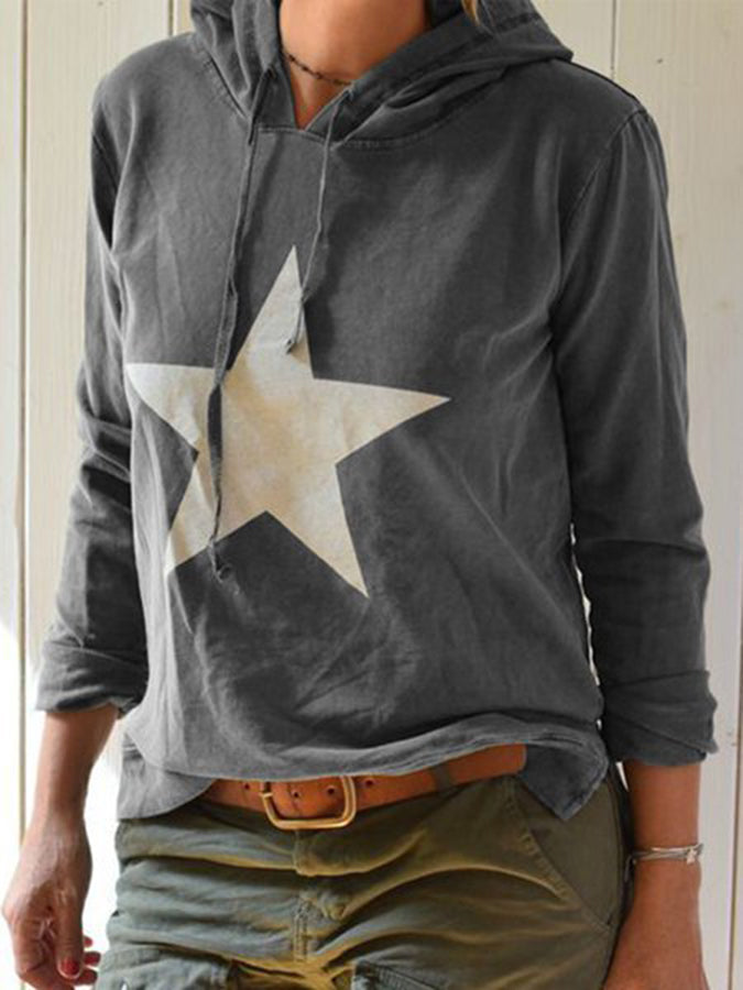 Long Sleeve Shift Casual Cotton Sweatshirt
